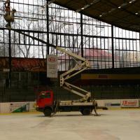 Práce na Horáckém zimním stadionu